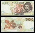 100,000 lire – obverse and reverse – 1994 (1983)