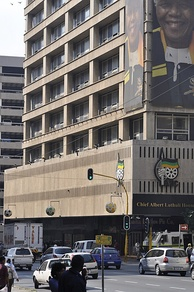 Luthuli House in Johannesburg, which became the ANC headquarters in 1991