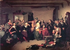 Examination of a Witch (1853) by T. H. Matteson, inspired by the Salem trials
