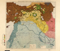 Maunsell's map, a Pre-World War I British Ethnographical Map of the Fertile Crescent area