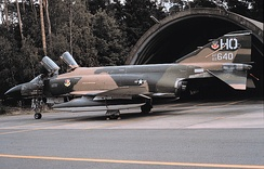 McDonnell F-4D Phantom 66-7640 of the 7th Tactical Fighter Squadron in 1975, photo taken at Ramstein Air Base, West Germany during a NATO deployment