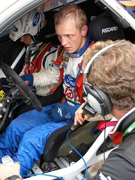 Hirvonen before his first win in Australia.