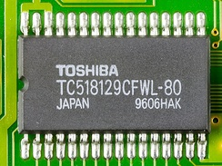 1 Mbit high speed CMOS pseudo static RAM, made by Toshiba