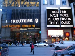 Reuters building entrance in New York City