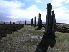 The Ring of Brodgar, Orkney is a possible area of origin for henges