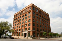 Texas School Book Depository, the building where Oswald worked as a shipping clerk when he fired the fatal shots that killed Kennedy