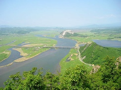 The mouth of Partizanskaya River near Nakhodka. View from Sopka Sestra (ru).