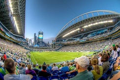 CenturyLink Field during a Sounders match