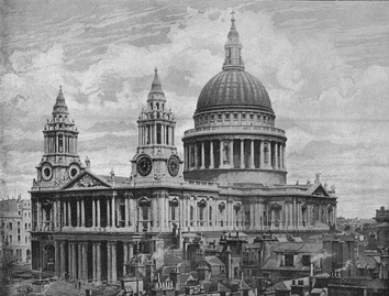 St Paul's Cathedral in 1896