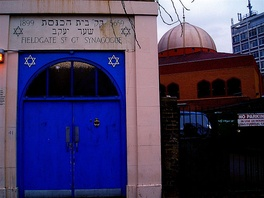 London neighbours, the Fieldgate Street Great Synagogue and the East London Mosque