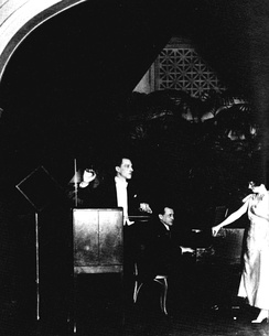 Léon Theremin performing a trio for voice, piano and theremin, 1924