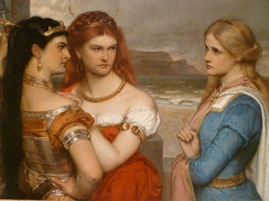 Three daughters of King Lear by Gustav Pope