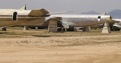 Boeing 707s at AMARG being used for salvage parts for the KC-135s, 2005