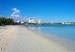 Having previously experienced extensive dredging, Tumon Bay is now a marine wildlife preserve.