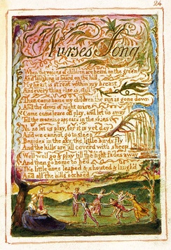 "William Blake ""Nurse's Song"" from Songs of Innocence and of Experience"