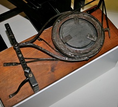 Herschel's mirror polisher, on display in the Science Museum, London