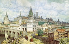 View of 17th-century Moscow (1922 drawing by Apollinary Vasnetsov)