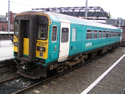 Arriva Trains Northern repainted unit no. 153304 at Doncaster