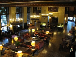 Several of the interiors of Ahwahnee Hotel were used as templates for the sets of the Overlook Hotel.
