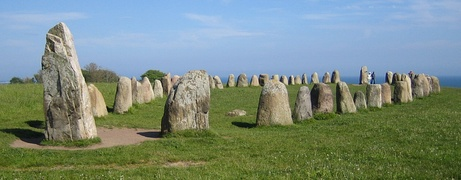 Ale's Stones at Kåseberga, around ten kilometres south east of Ystad, Sweden