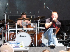 Melodic metalcore band All That Remains performing at the Ozzfest in 2006.