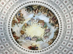 The Apotheosis of Washington, as seen looking up from the rotunda