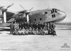 Members of the Governor-General's Flight RAAF in front of the Vice-Regal Avro York in June 1945