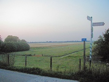 Quintessential landscape of the Holland region: Benthuizen polder, as viewed from a dike