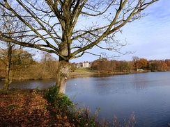 Bretton Hall, lower lake and parkland