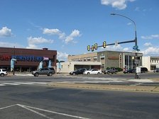 The Northern terminus of Broad Street on the border of Philadelphia and Cheltenham Township