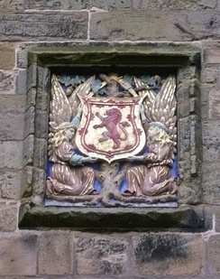 The arms of the King of Scots at the gatehouse