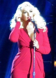 Aguilera performing at the Breakthrough Prize in 2014