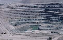 Chuquicamata, in Chile, is one of the world's largest open pit copper mines
