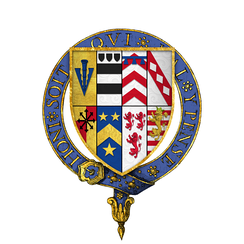 Quartered arms of Sir Henry Sidney, KG