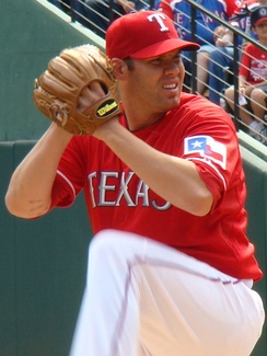 Lewis re-signed with the Rangers after spending two years playing in Japan. He would be the deciding pitcher in each of the Rangers first two home playoff wins.