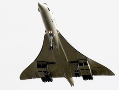 Very low aspect ratio wing (AR=1.55) of the Concorde
