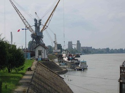 The port of Vukovar, Danube River