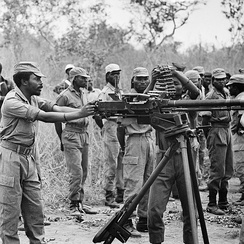 Members of the National Liberation Front of Angola training in 1973.