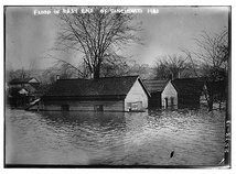 Cincinnati's East End neighborhood during the Great Flood of 1913.