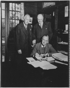 Charles Richard Crane, Farley, and Roosevelt in Warm Springs, Georgia, December 1931