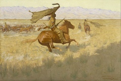 Frederic Sackrider Remington, The Stampede; Horse Thieves, 1909. Museum of Fine Arts, Houston