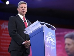 Gary Johnson speaking at the 2016 Conservative Political Action Conference (CPAC) in Washington, D.C.