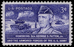 General Patton U.S. commemorative stamp, issued in 1953