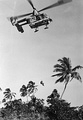 An HH-43 rescues an airman in Southeast Asia