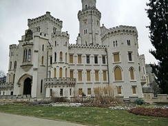 The castle seen from outside the front door