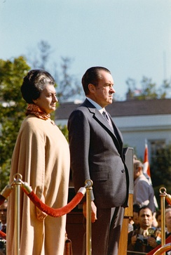 The Prime Minister of India (Indira Gandhi) and the President of the United States of America (Richard Nixon) in 1971