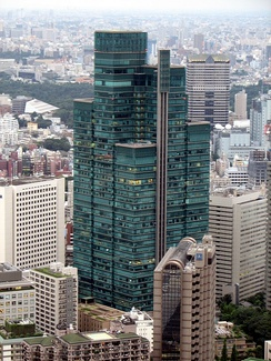 The Izumi Garden Tower in Roppongi. Avex Group moved to the 36th floor of the tower on October 1, 2014.