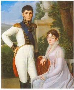 Jérôme Bonaparte, King of Westphalia, and Queen Catharina