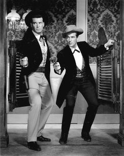 James Garner and Jack Kelly in Maverick, 1959