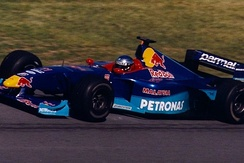 Jean Alesi driving for Sauber at the 1999 Canadian Grand Prix.